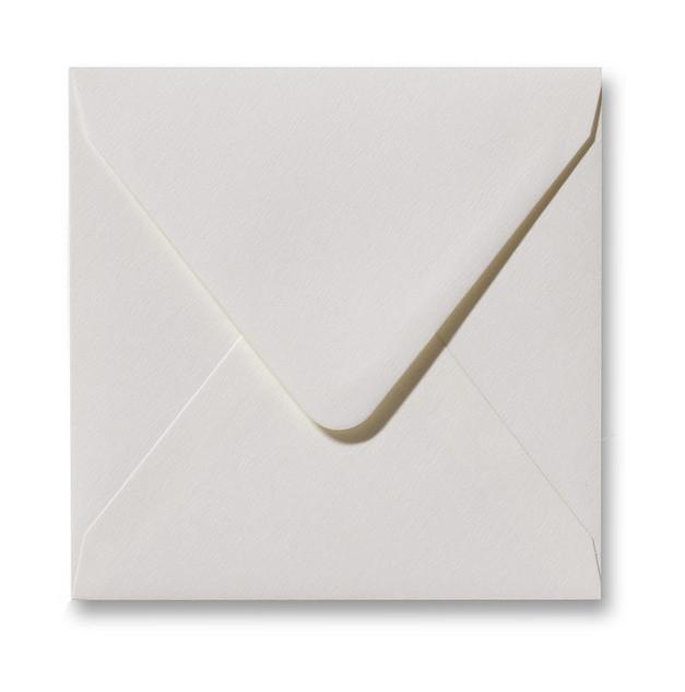 Kuvert Weiß Fiore 14x14cm