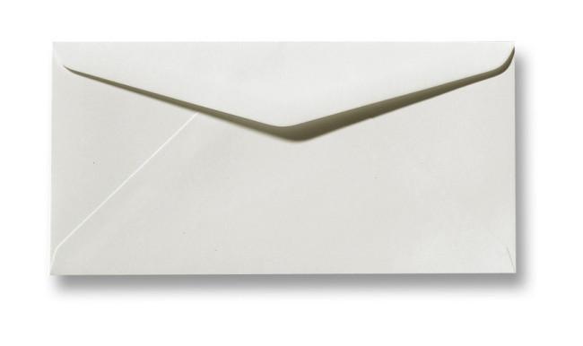 Kuvert Weiß Fiore 11x22cm