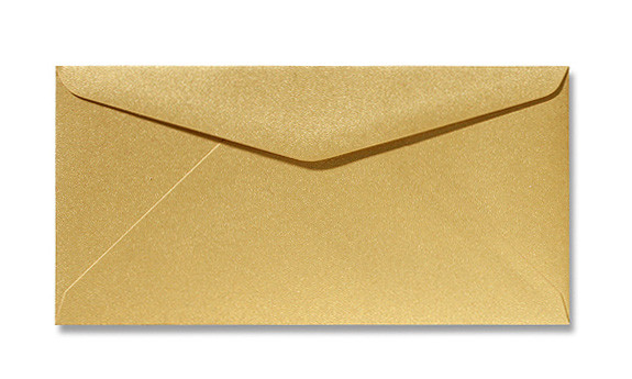 Kuvert Gold 11x22cm