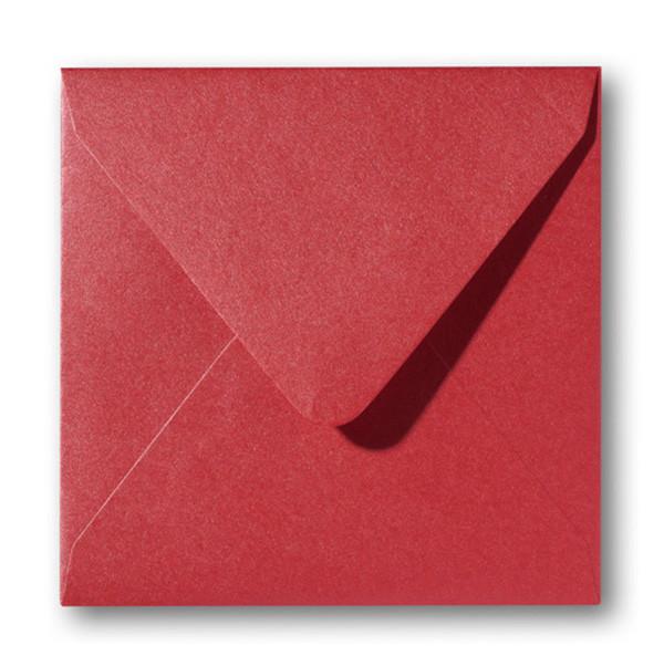 Kuvert Metallic Rosso 14x14cm