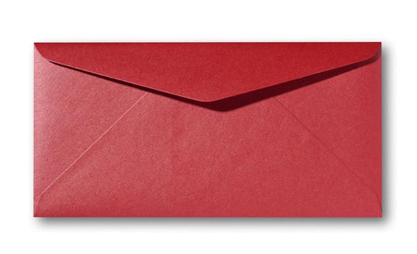 Kuvert Metallic Rosso 11x22cm