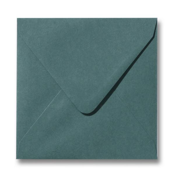 Kuvert Dunkelgrün 14x14cm