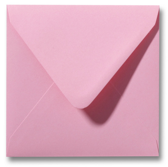 Kuvert Dunkelrosa 14x14cm