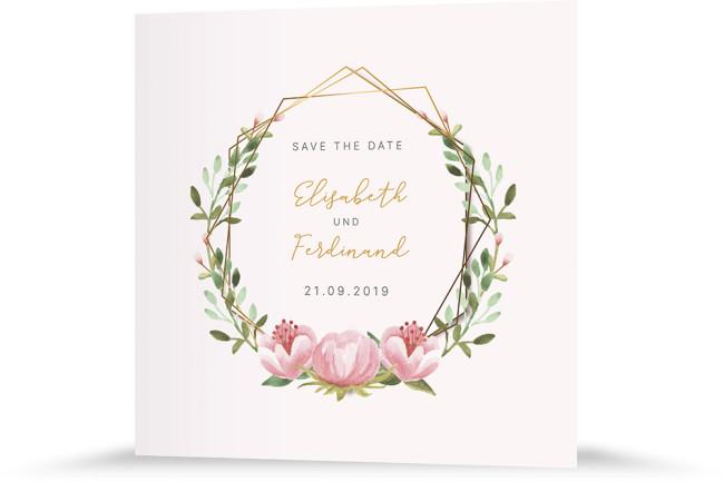 """Save the Date """"Blütenkranz"""""""