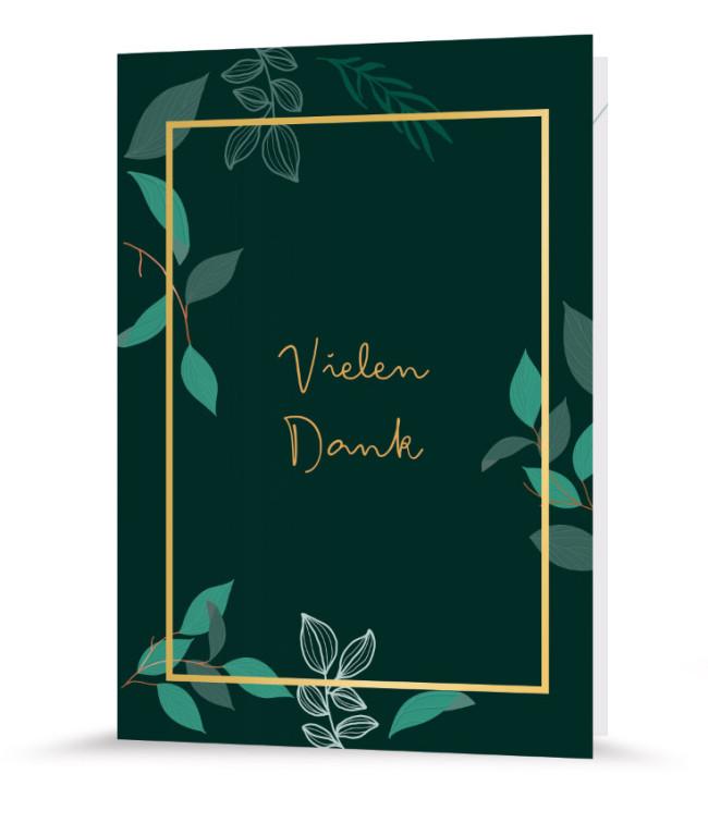 "Dankeskarte ""Shades of green"""