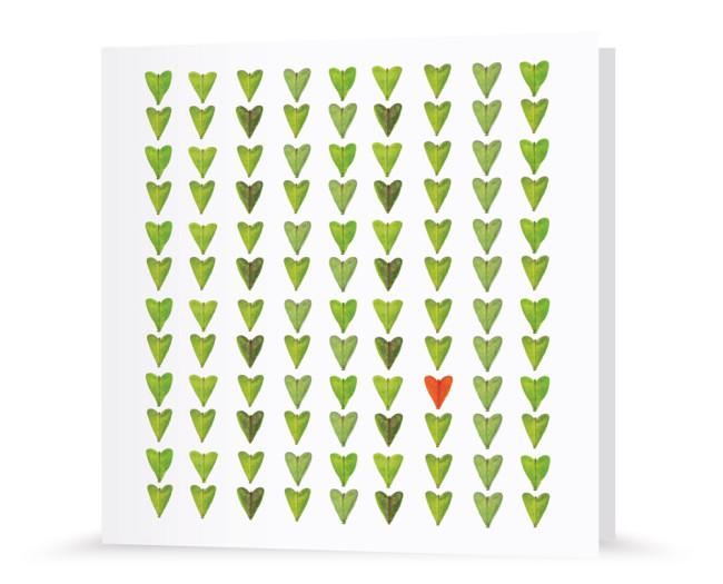 Grußkarte - Herzblatt