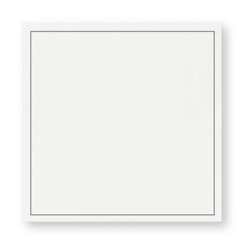 Kuvert Trauer weiß 14x14cm