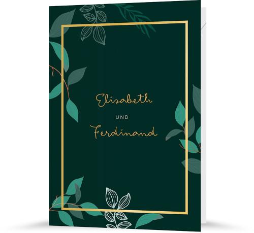 """Hochzeitseinladung """"Shades of green"""""""