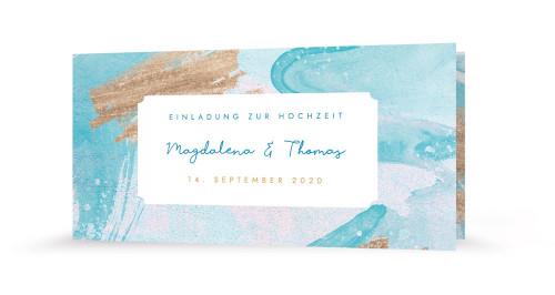 "Hochzeitseinladung ""Aquarell"""