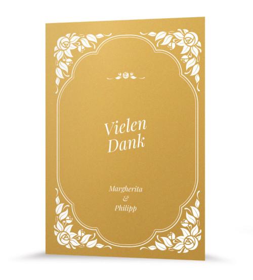 "Dankeskarte ""Vintage Gold"""
