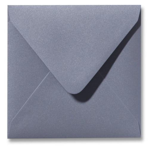 Kuvert Metallic Silver 14x14cm