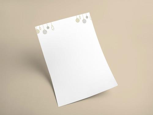 Briefpapier Weihnachten 2019