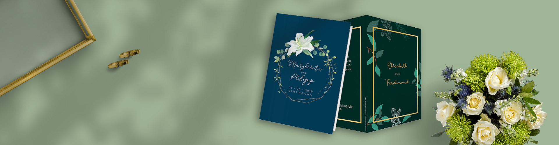 Slide Einladungen Hochzeit