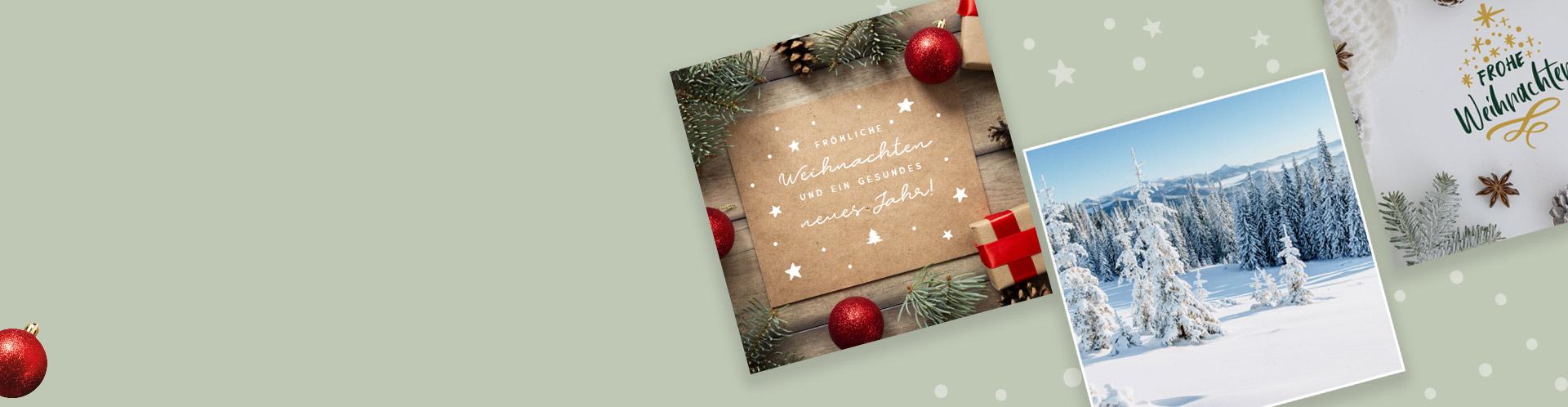 Vorgedruckte Weihnachtskarten